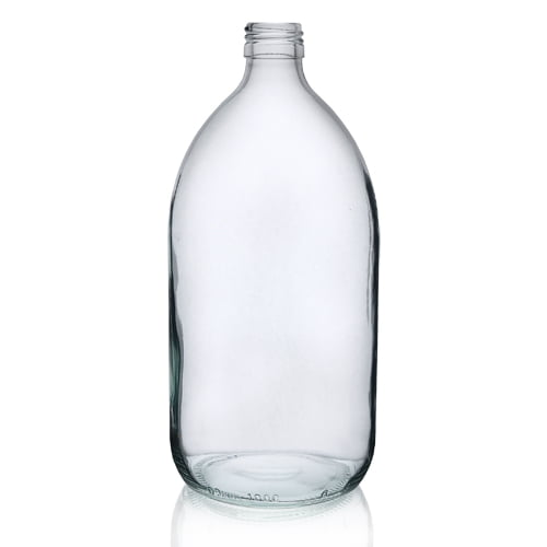 Clear Glass Alpha Syrup bottles 1L