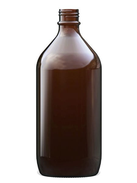 Amber Glass Winchester Bottle 1L