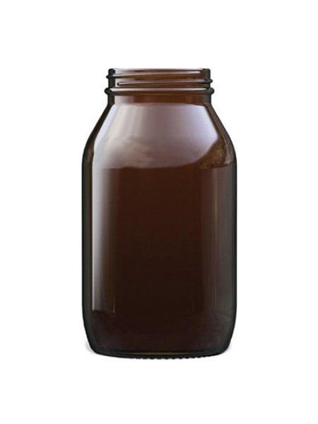 Amber Glass powder Round 1000ml