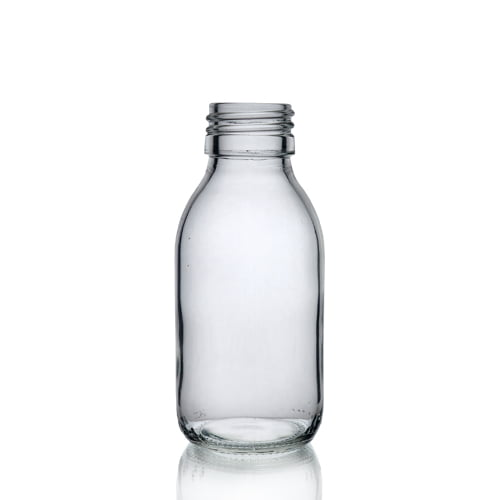 Clear Glass Syrup Bottle 100ml