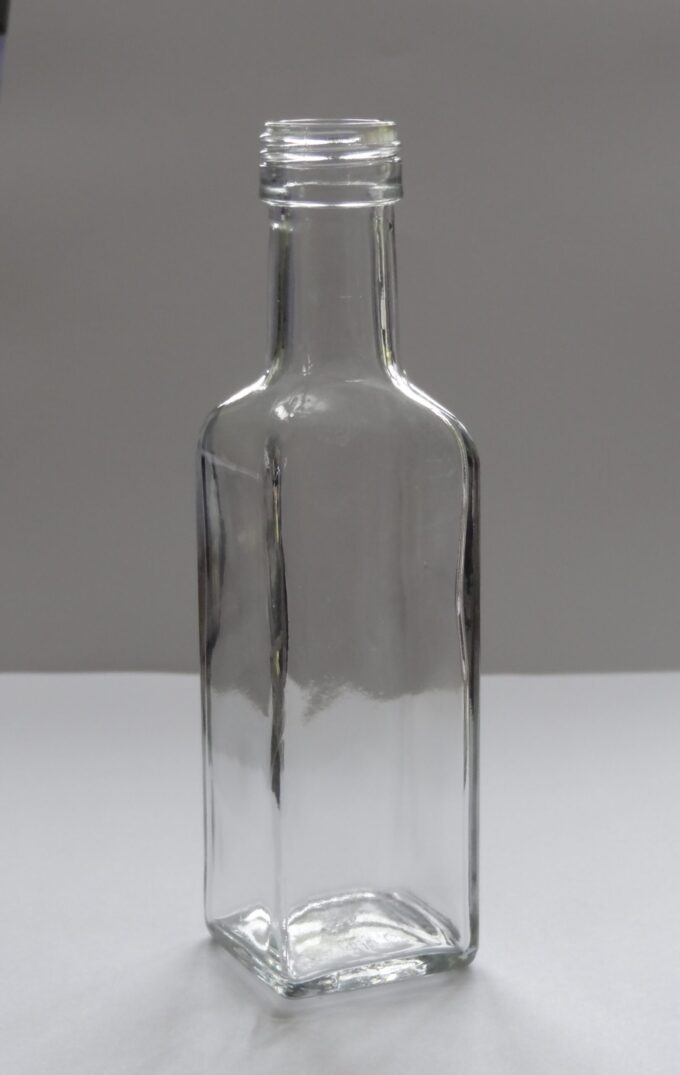 Clear Square sauce bottle 100ml