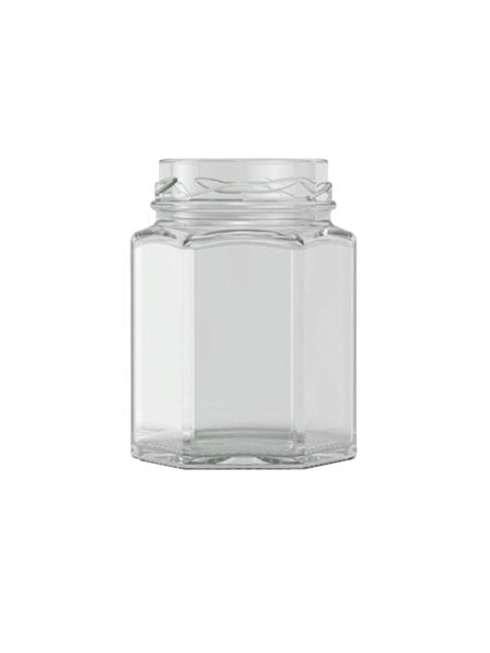 hexagonal jam jar 110ml