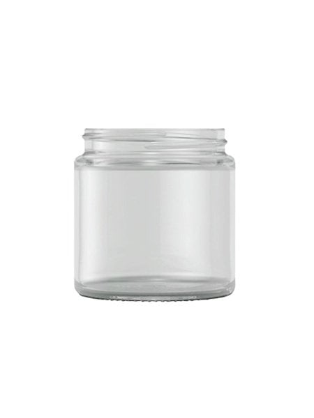 Clear Glass cream jar 120ml / 4oz