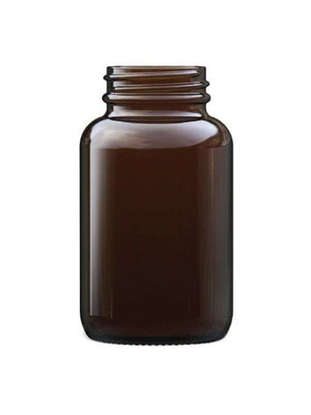 amber glass powder round 120ml