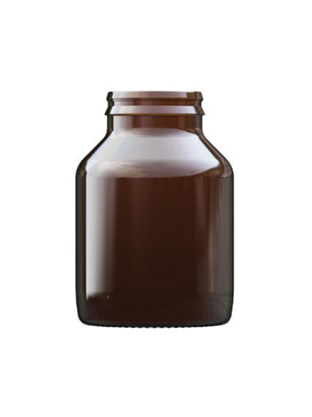 amber Glass tablet bottle 200ml