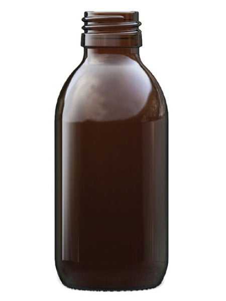 Amber Glass Syrup Bottle 150ml