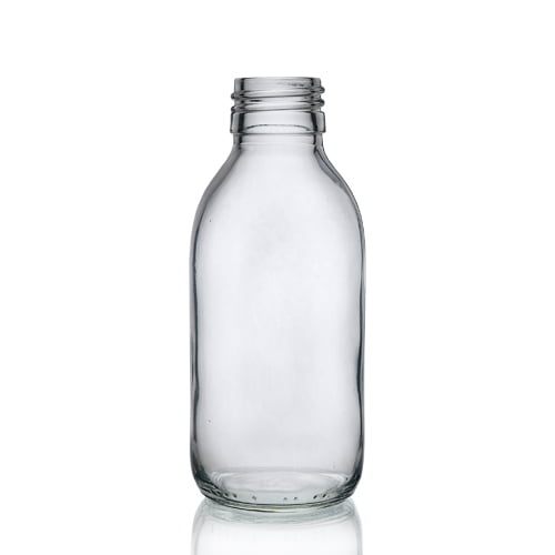 Clear Glass 150ml Alpha Syrup Bottle