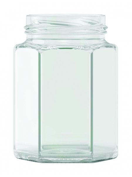 hexagonal jam jar 190ml