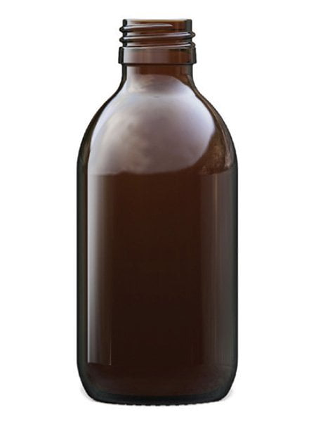 Amber Glass Alpha Syrup 200ml