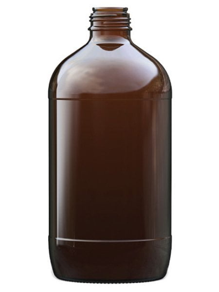 2.5l amber glass winchester bottle