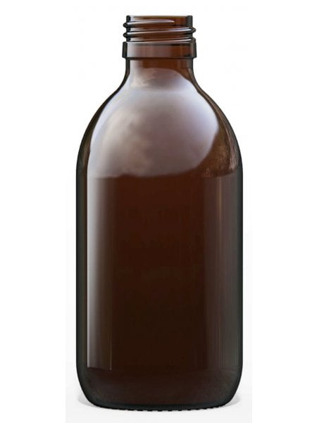 Amber Glass Syrup Bottle 250ml