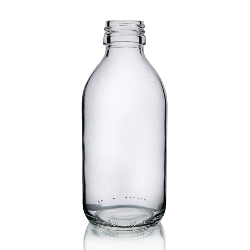 Clear Glass Alpha syrup 250ml bottle