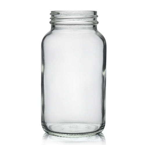 Clear glass powder round 250ml