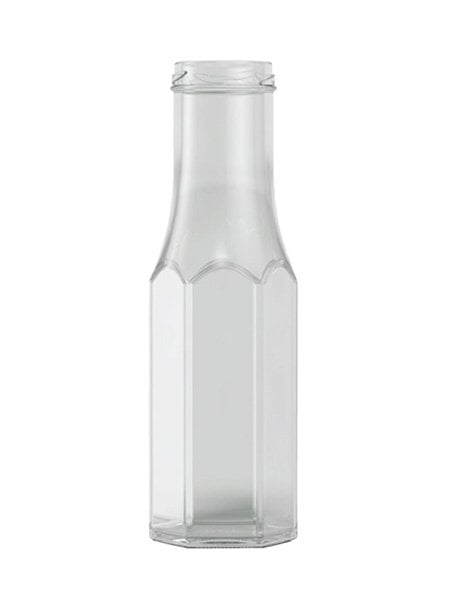 hexagonal sauce bottle 250ml