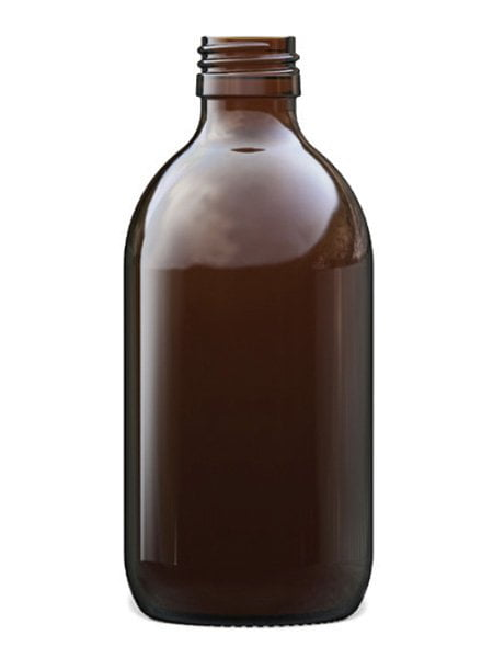 Amber Glass Syrup Bottle 300ml