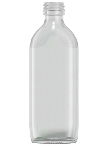 Clear Glass Sloping Shoulder Flat 300ml