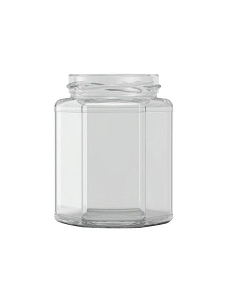 hexagonal jam jar 300ml