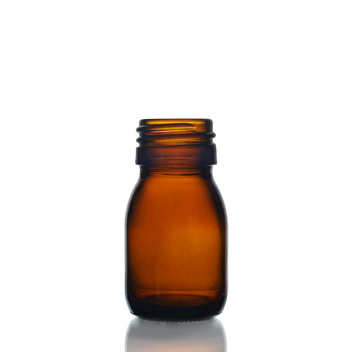 Amber Glass Syrup Bottle 30ml