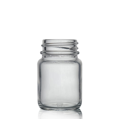 Clear Glass powder round 15ml