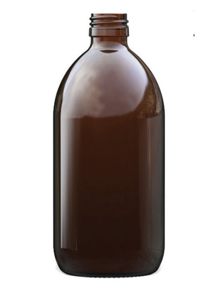 Amber Glass Syrup Bottle 500ml