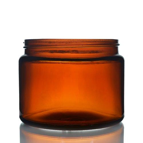 Amber Glass Cream Jar 500ml