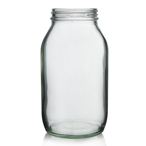 Clear Glass powder round 500ml