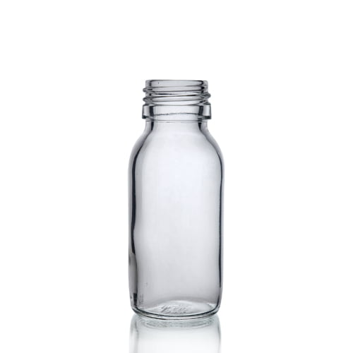 Clear Glass 60ml Alpha Syrup Bottle